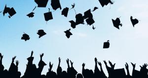 graduates hats in air